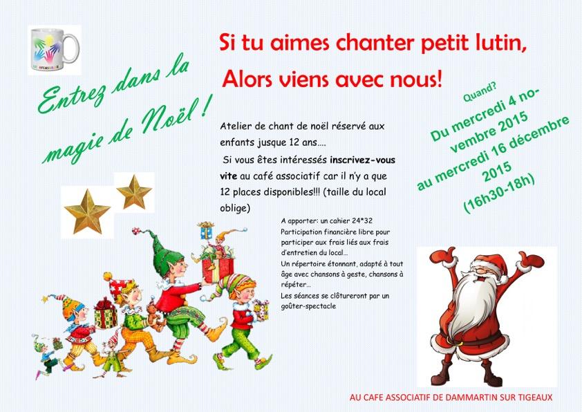 Atelier Chant de Noel